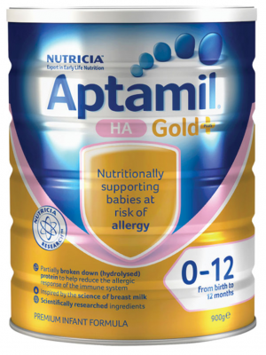 Aptamil Gold+ HA Infant Formula From Birth 0-12 Months 900g