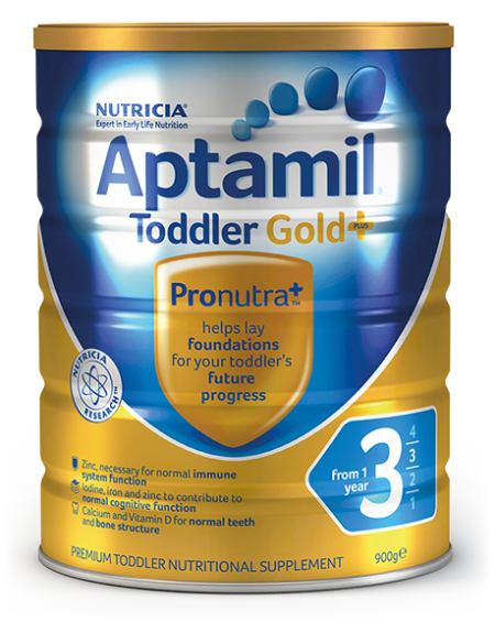 Aptamil Gold+ Step 3 Toddler Nutritional Supplement From 1 year 900g